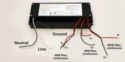 12V 180W dimmable driver wiring instruction